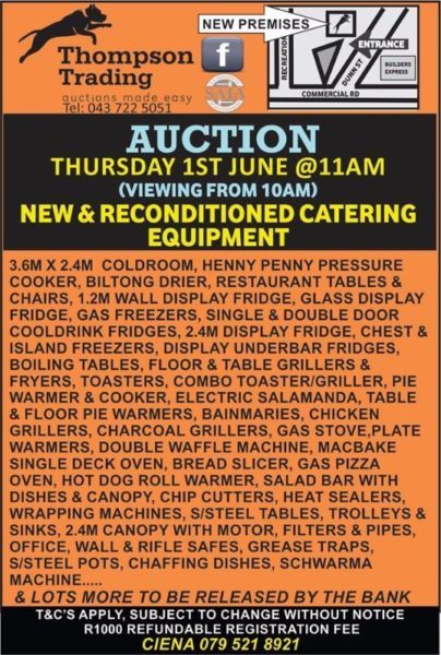Loads of new, reconditioned and used equipment for every use! Join us Thursday at Thompson Trading, come and view from 9am on the day!