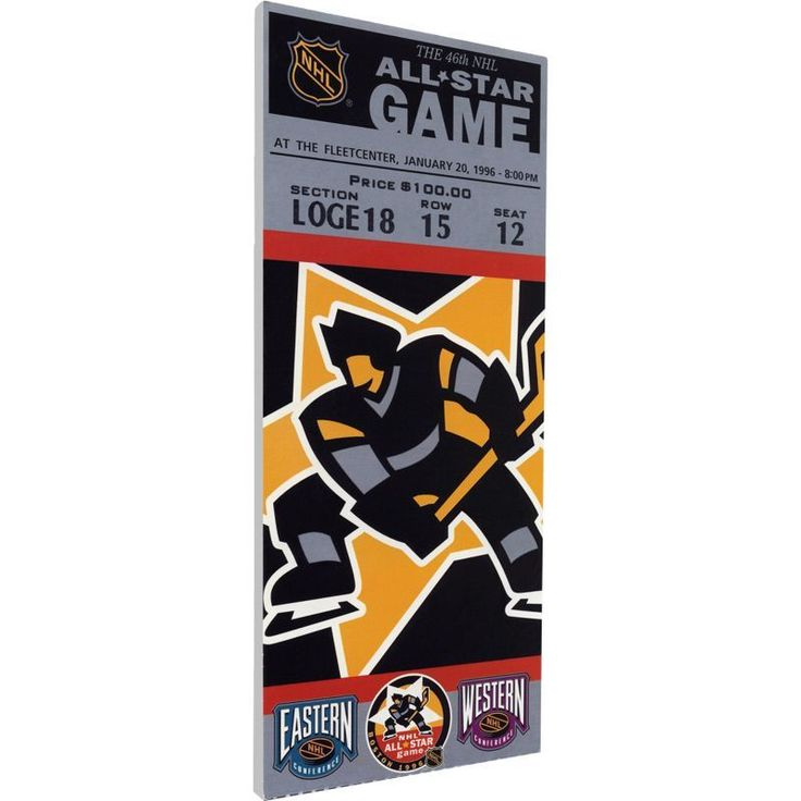 That's My Ticket 1996 NHL All-Star Game Ticket