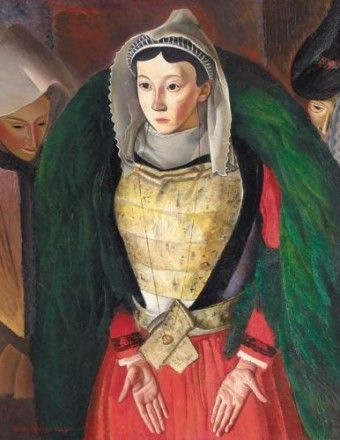 Woman from Bretagne by Bertalan Szekely