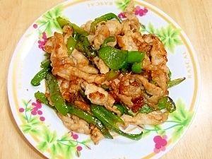 「ピーマンと豚肉の中華風炒め」味が濃いめなので、ご飯のおかずの一品として大活躍しています!!【楽天レシピ】