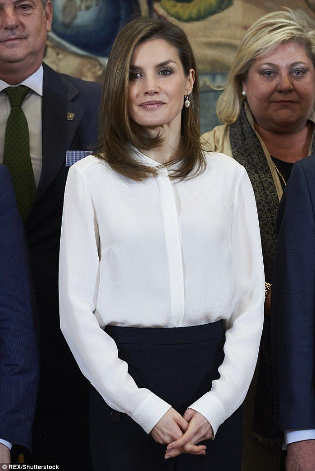 Royal duties:Letizia, who is regarded as one of the hardest-working royals, married into the Spanish monarchy in 2004, following a successful career as a journalist and newsreader
