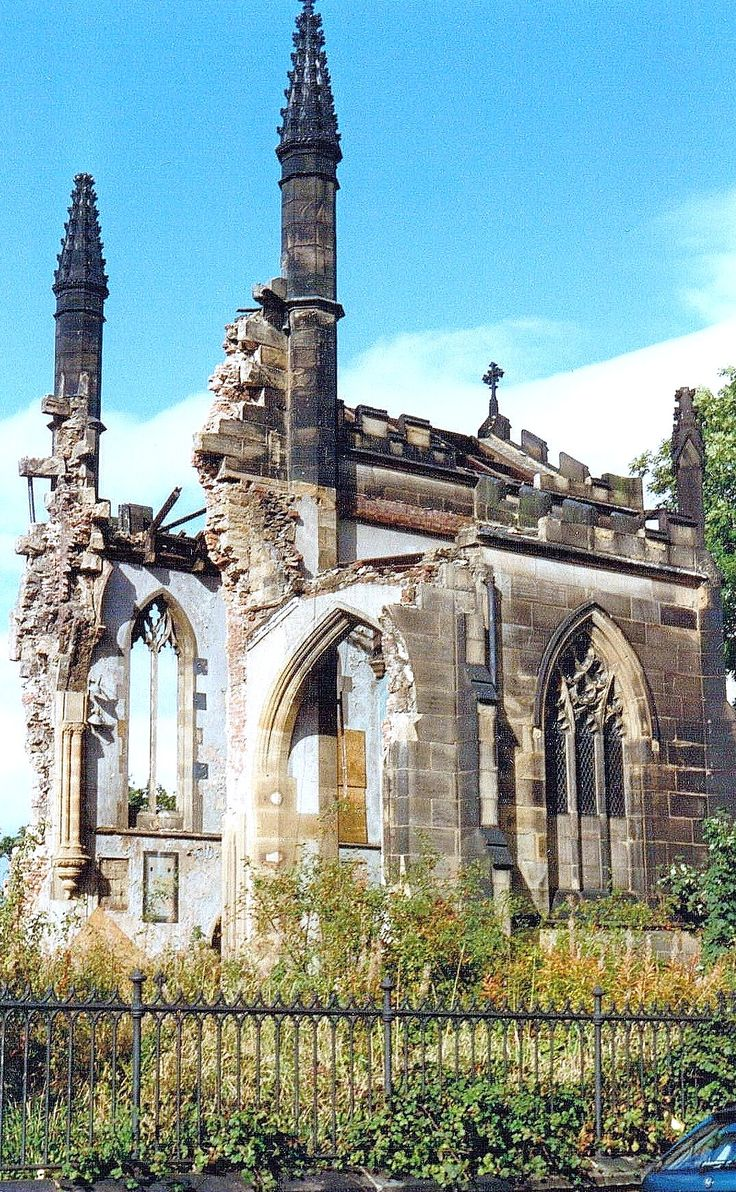 St George's Church under demolition. A Napoleonic period parish church in Barnsley, South Yorkshire. My parents were married here.