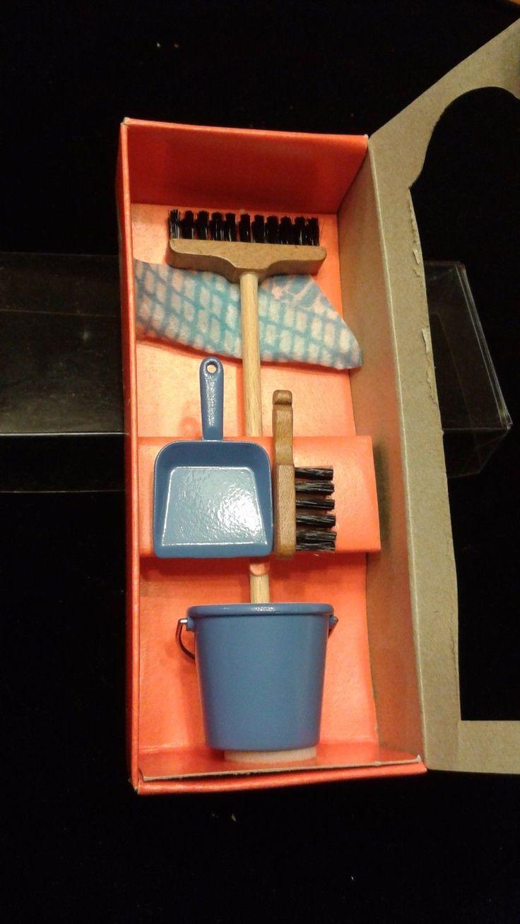 Dollhouse Miniatures 1 12 Broom Shovel Bucket Bodo Hennig Germany 910 | eBay
