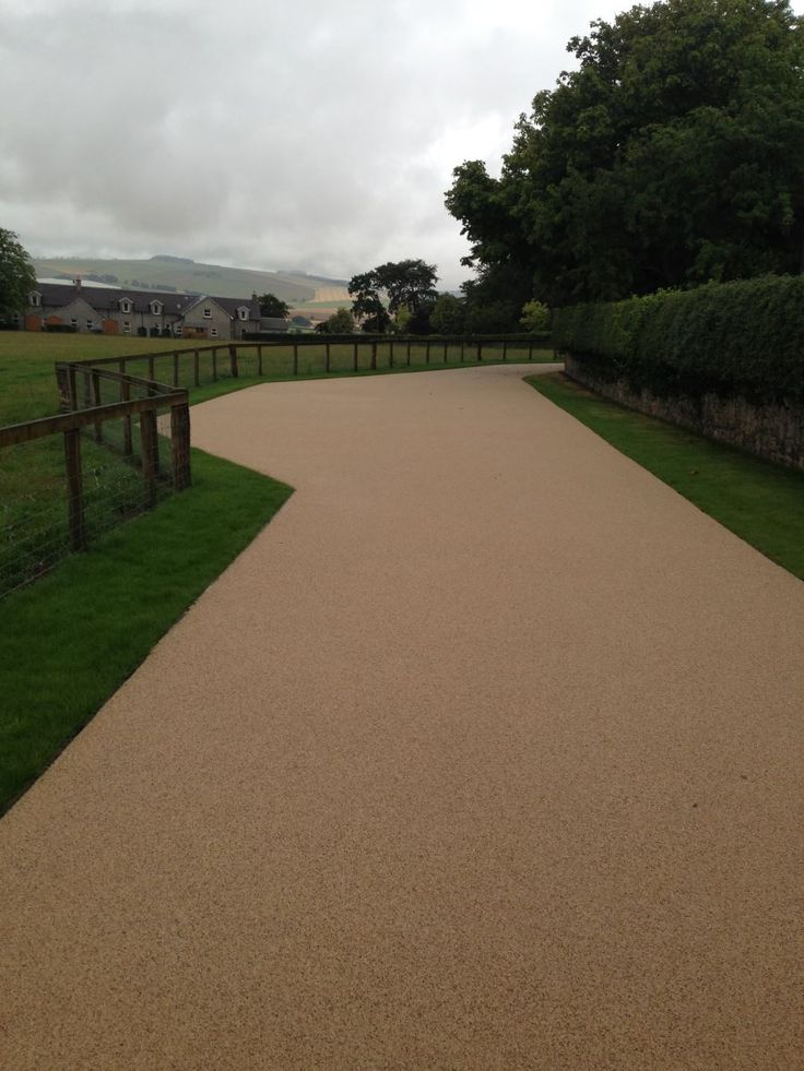The surface after the application of Resin Bonded Aggregate
