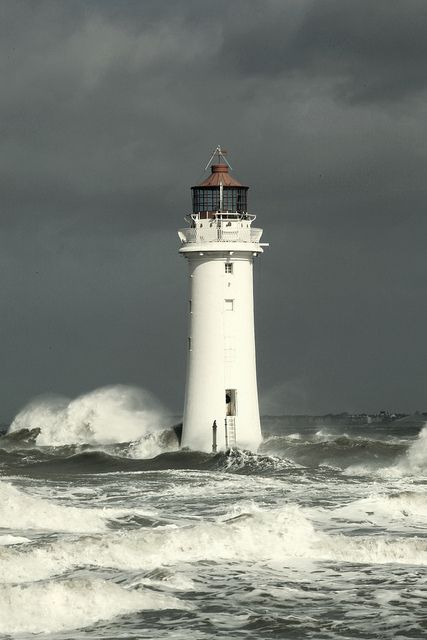More Awesome Waves. Lighthouse in an Irish Sea Storm by David Firth Photo-Graphics, via Flickr