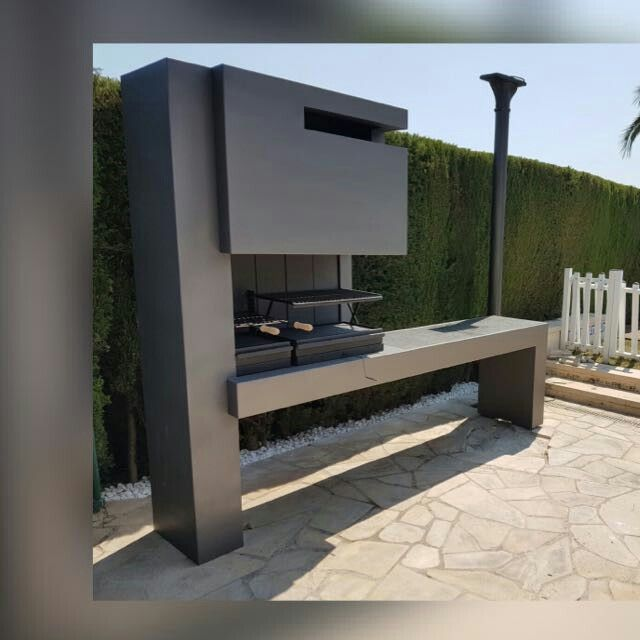 M s de 25 ideas incre bles sobre chimeneas exteriores en for Parrillas para casa de playa