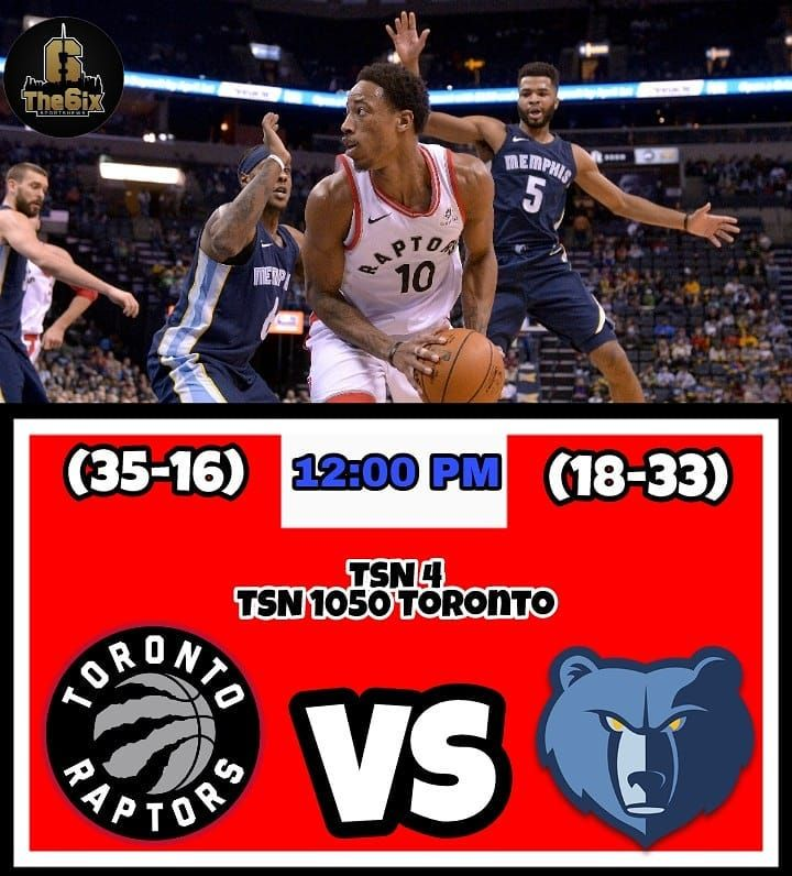 The Raptors will play an early game today against the Memphis Grizzles at 12:00 PM due to the Superbowl timing. The Raptors look to make it 2-games in a row. Tune in on TSN 4 or radio TSN 1050 Toronto. . . . . #warriors #nba #basketball #nyknicks #knicks #raptors #torontoraptors #celtics #bostonceltics #sixers #philadelphiasixers #nets #lbj #playoff #heatnation #letsgoheat #ilovethisgame #slam #court #myteam #rockets #ballers #buckets #baloncesto #streetball #ballup #nbamemes #pelicans…