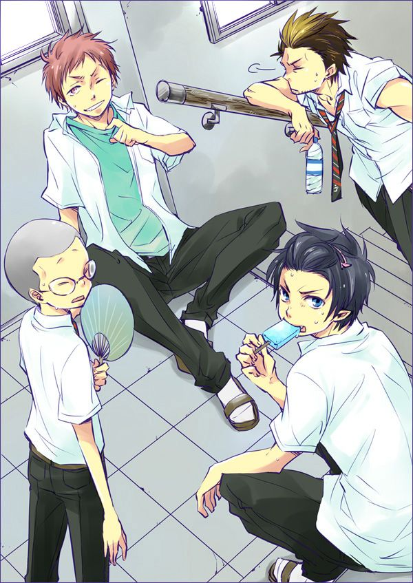 Blue Exorcist ~~ School boys in the summer