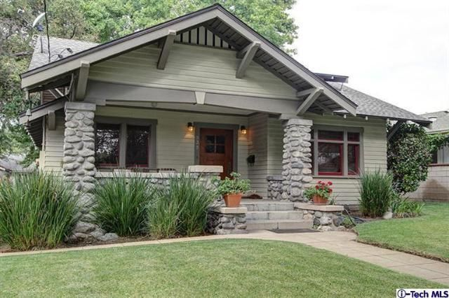 Stoney craftsman pasadena amazing stained trim for Craftsman style homes for sale in california