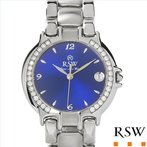 $929.00  RAMA SWISS WATCH Made in Switzerland Brand New Date Watch With 0.75ctw Genuine  Clean Diamonds  - Certificate Available.