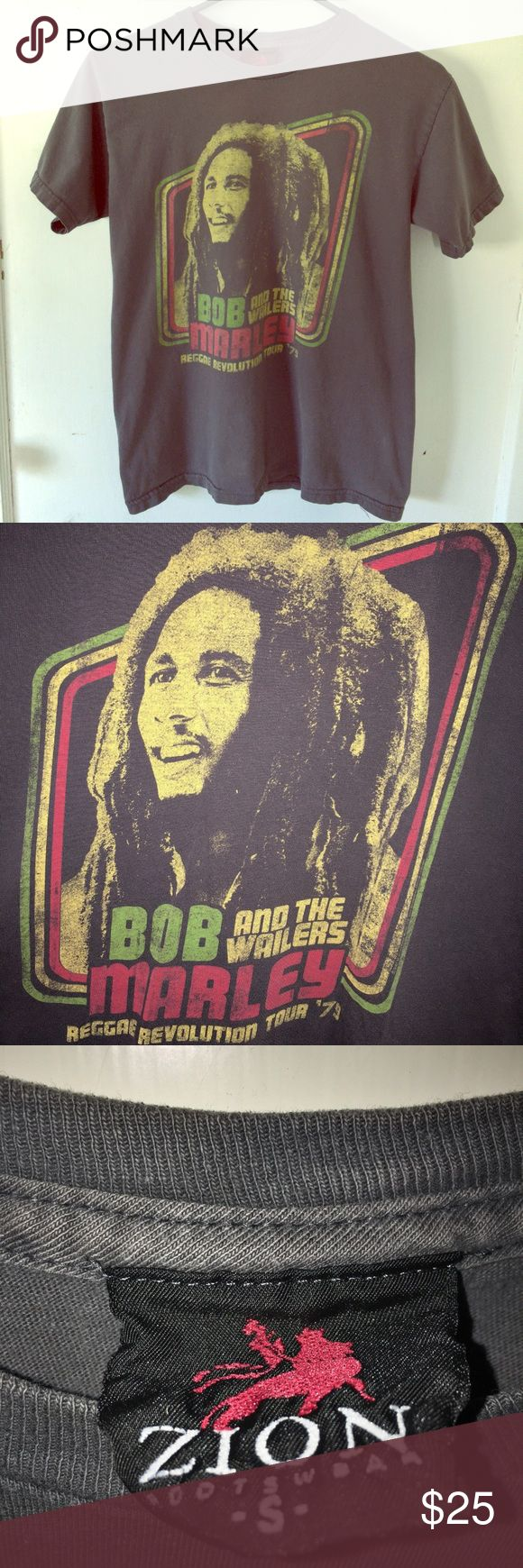"Vintage Bob Marley & the Wailers T-Shirt Vintage Bob Marley & the Wailers ""Reggae Revolution Tour '79"" T-Shirt. Zion Rootswear Shirts Tees - Short Sleeve"