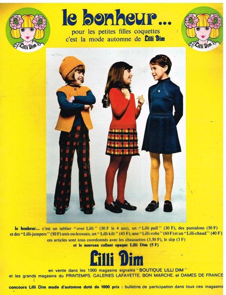 Publicité Advertising 1972 Les Vetements et collants pour enfants  Lilli DIM