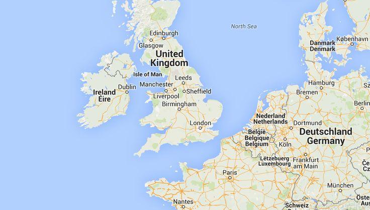 Kaart Engeland. Bekijk de plattegrond van Engeland   Zoover