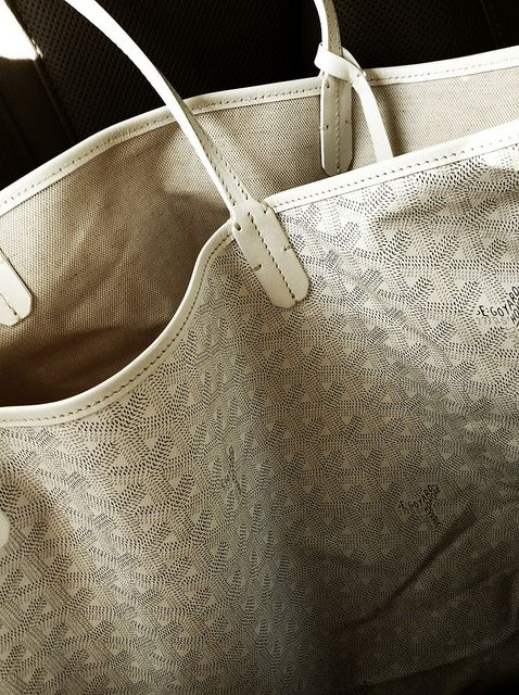 White Goyard Bag.  With a racing stripe and my initials...yes PLEASE!