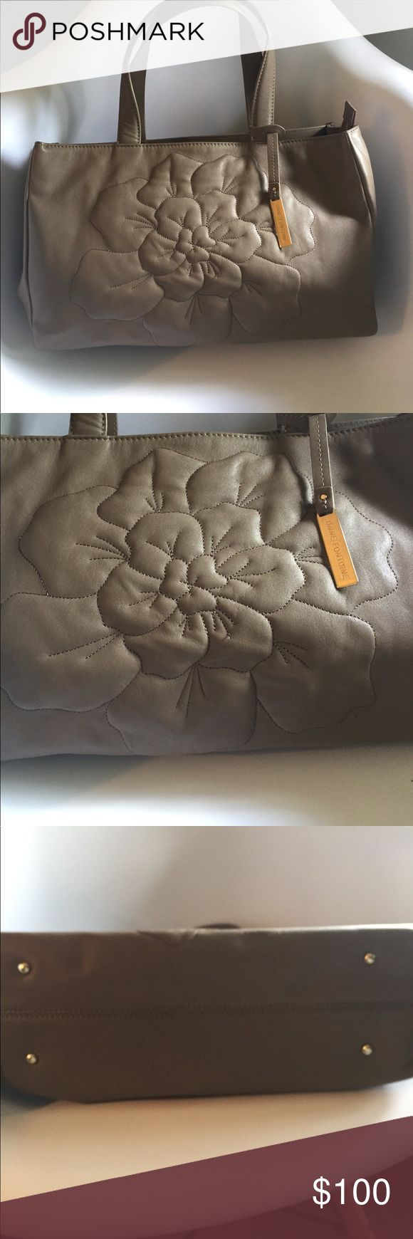 Anne Fontaine handbag Beautiful taupe handbag from French designer Anne Fontaine. 100% cow leather, gold hardware. Handbag feet and 2 key fobs. Perfect neutral handbag to add to your closet! anne fontaine Bags Totes