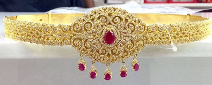 Latest 1 Gram Gold Vaddanam Designs | Buy Online jewellery | Elegant Fashion Wear #1gramgold #cz #ruby #vaddanam