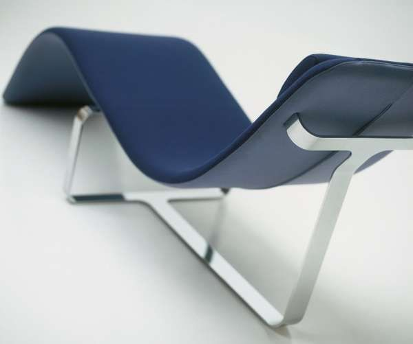 Foldable sculptural seating chaise lounges lounges and for S shaped chaise lounge chairs