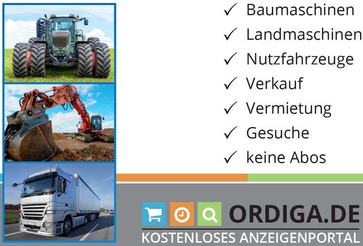 Einfach, lokal, kostenlos - das neue kostenlose Anzeigenportal für #Landmaschinen, #Baumaschinen und #Nutzfahrzeuge. Alles rund um #Verkauf & #Vermietung!