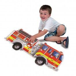 Velké puzzle s motivem hasičského auta (24 ks) - 3TL s.r.o.