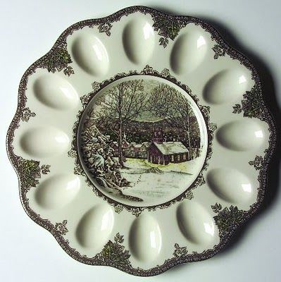 Friendly Village deviled egg plate...need this for my collection