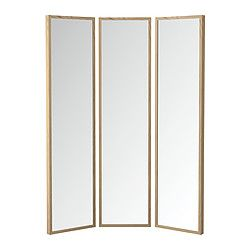 STAVE, Mirror, white stained oak