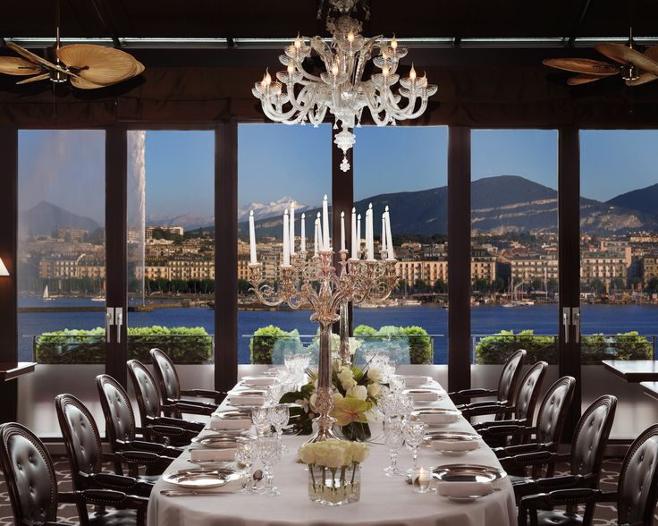 Just a casual dinner for two. Not! Dine in style at the #Hoteld'Angleterre #UniqueSleeps #Luxury #Switzerland #Geneva