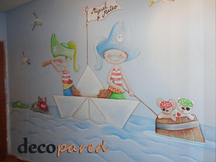 M s de 25 ideas incre bles sobre repisas infantiles en - Murales para habitacion ...