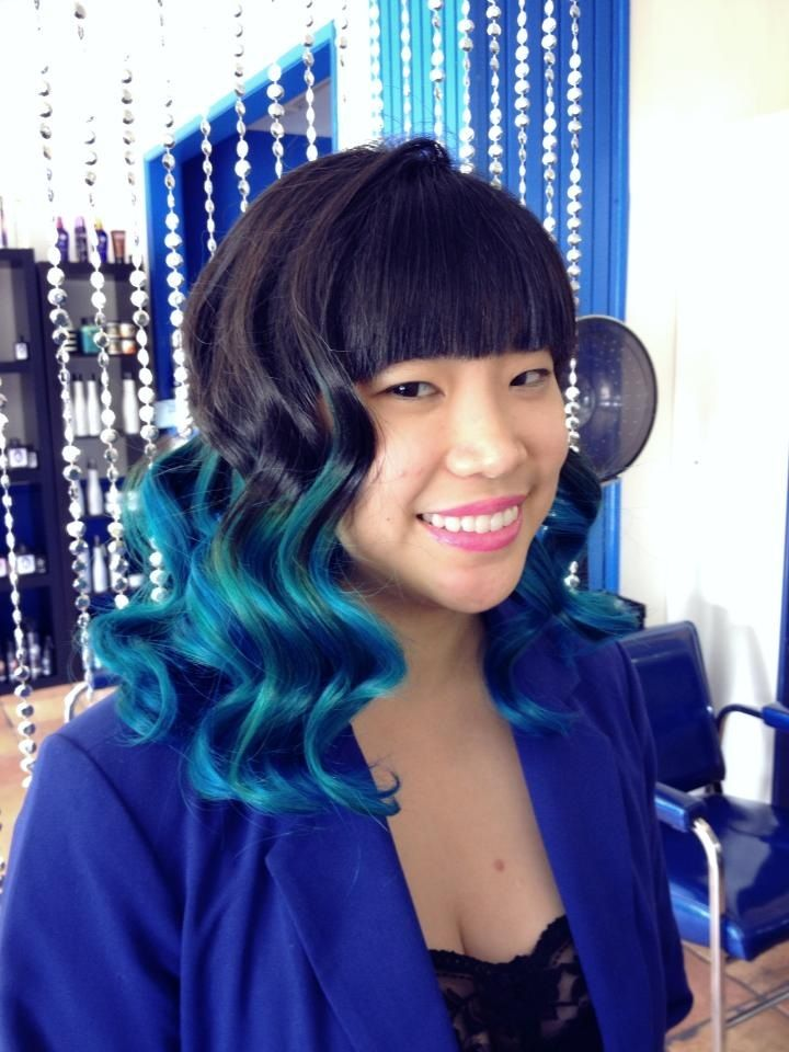 Blue Ombr By Chelsea At Blue Velvet Hair Salon In North Hollywood  Color