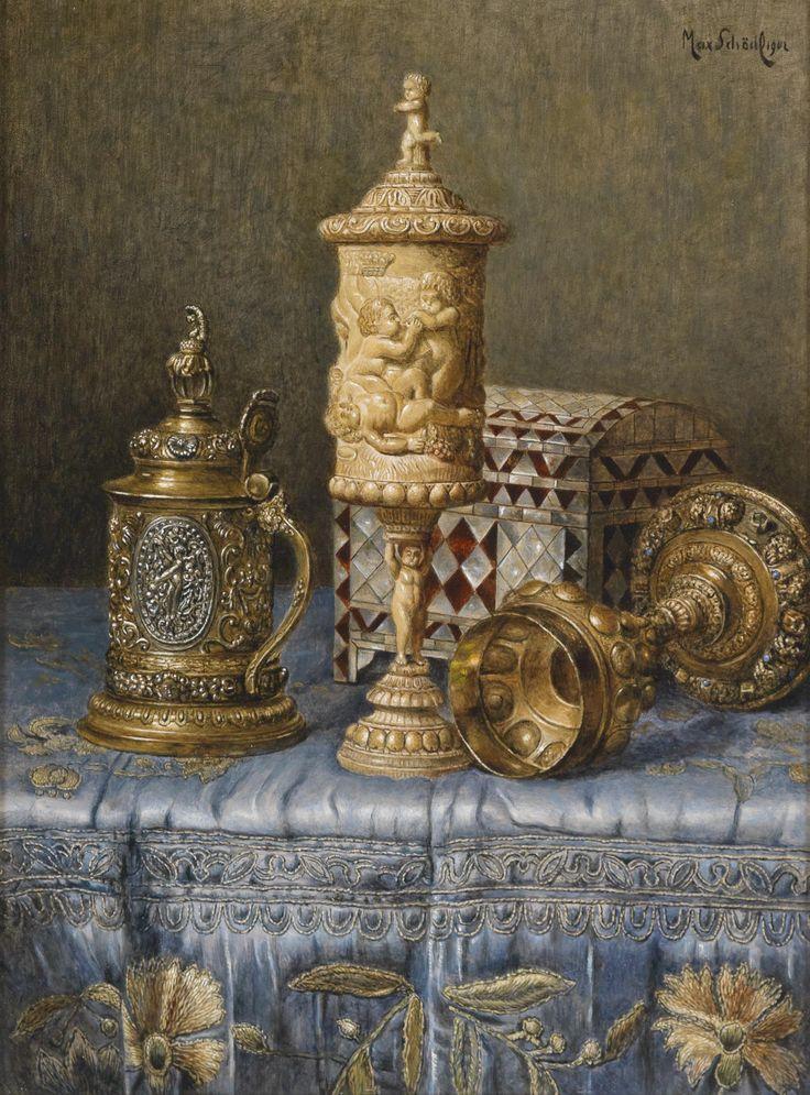 Max Schödl (1834-1921) — Antiques Still Life , 1902