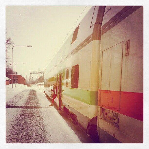 Off the train ...  Hämeenlinna