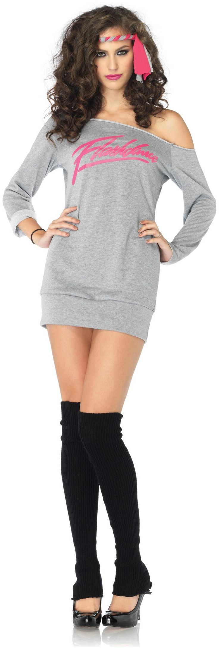Flashdance - Sweatshirt Dress Adult Costume #halloweencostume #costume #halloween #adultcostume #womencostume
