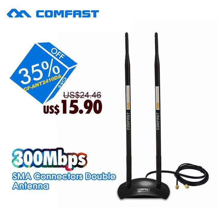 20dBi High Gain Wireless Antenna 2.4GHz  RP-SMA 500M Coverage OMNI Wifi Antenna COMFAST CF-ANT2410DA for PCI Card Modem Router