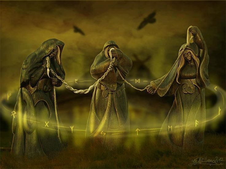 There are three Norns who lives at the well Urd. Their ...