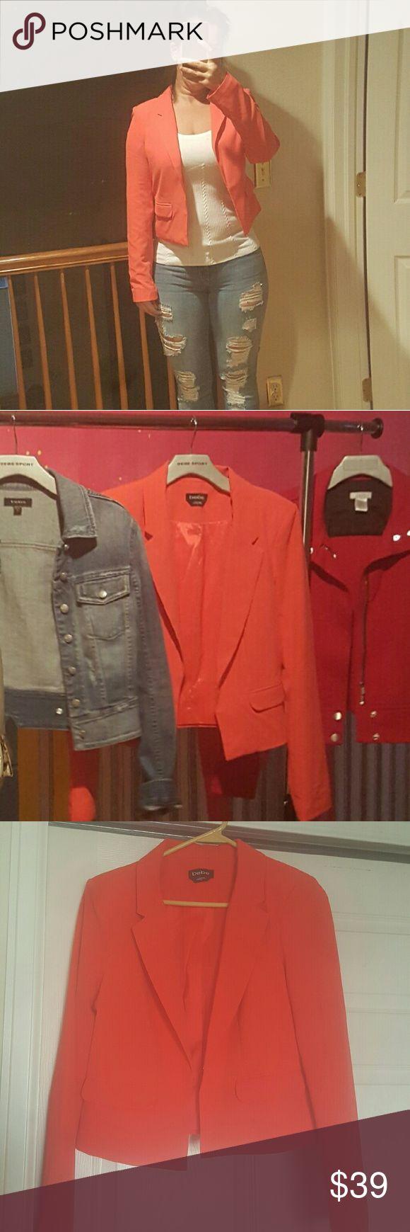 NWOT Bebe coral jacket NWOT Bebe coral jacket never worn bebe Jackets & Coats