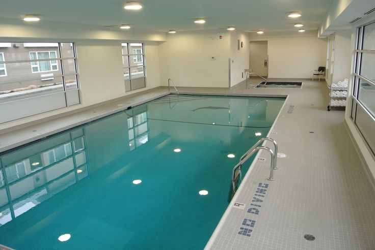 Indoor swimming pool and spa at the Kelowna Inn and Suites Hotel.