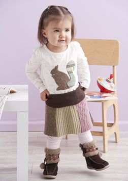 Adorable upcycled sweater kid's skirt