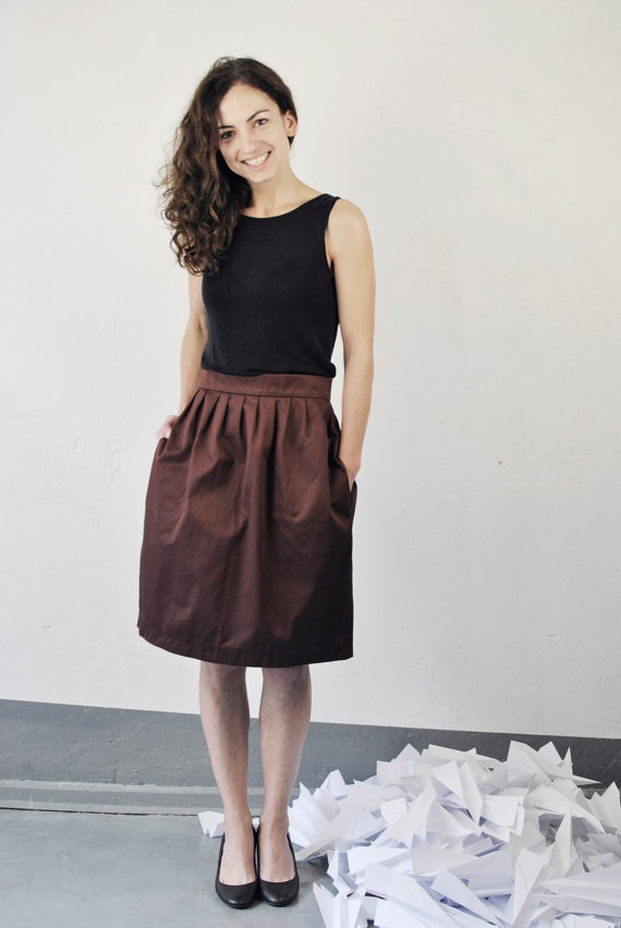 High Waisted Skirt With Pockets 82
