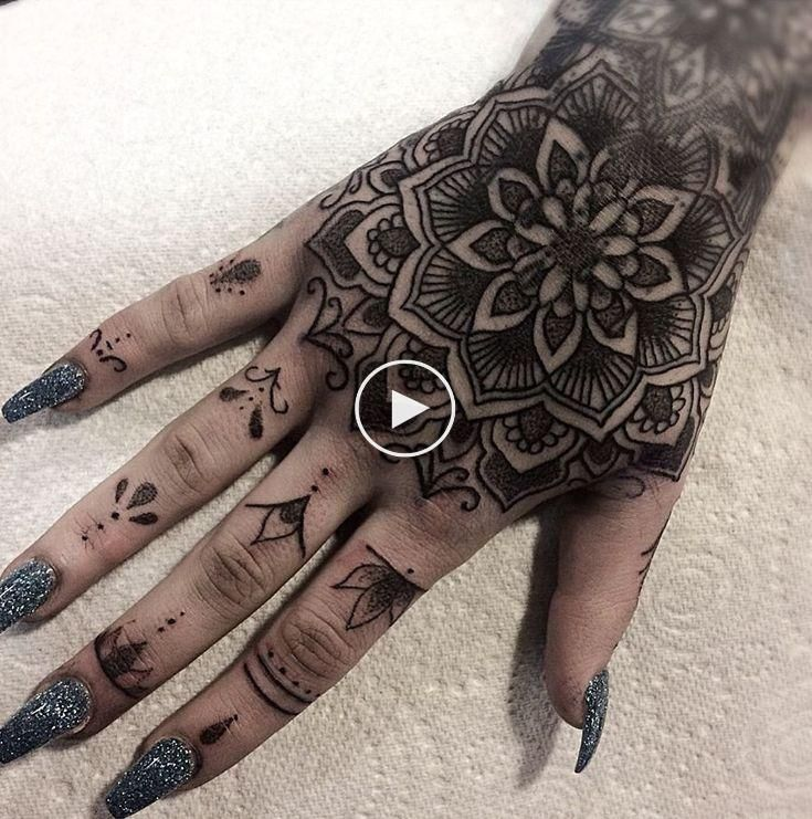 50 Of The Most Beautiful Mandala Tattoo Designs For Your Body Soul Traditional Hand Tattoo Hand Tattoos Full Hand Tattoo