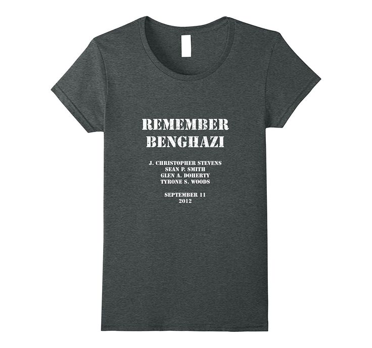 Remember Benghazi Patriotic T-Shirt Distressed