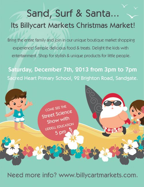 #shop#eat#play#love Billycart Markets Christmas Market December 7th 2013 3pm-7pm   #brisbane #funforkids #boutiquemarkets #markets #familymarkets #mummymarkets #billycartmarkets #baby