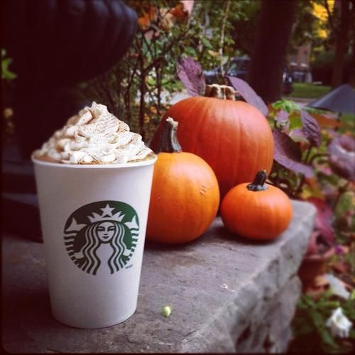 It's not fall without a pumpkin latte