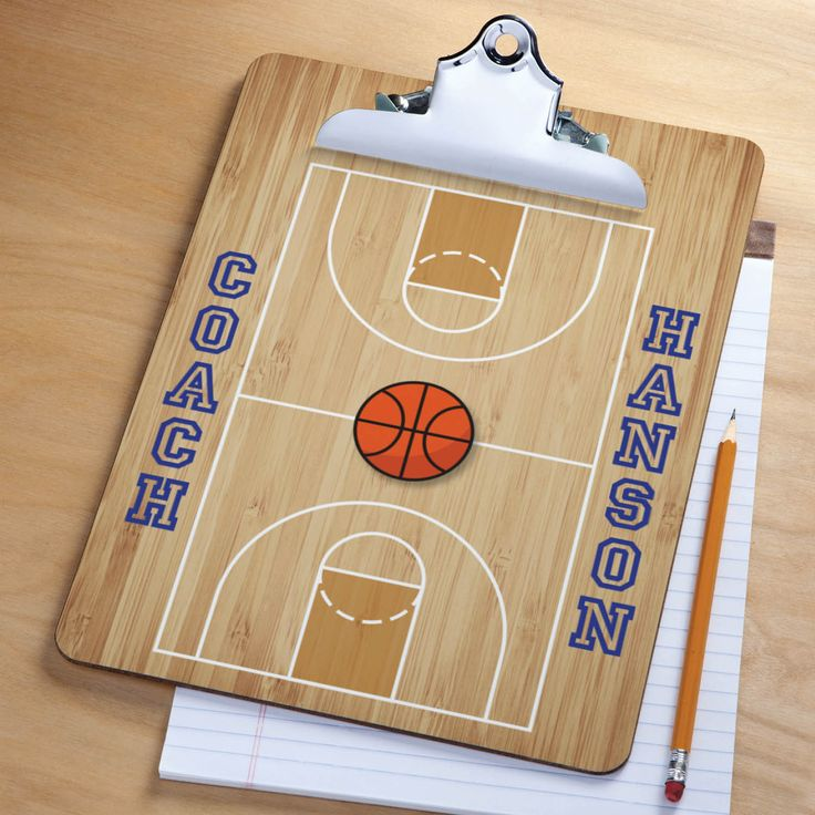 Our personalized clipboard makes a great gift for the basketball coach or fan on your list!