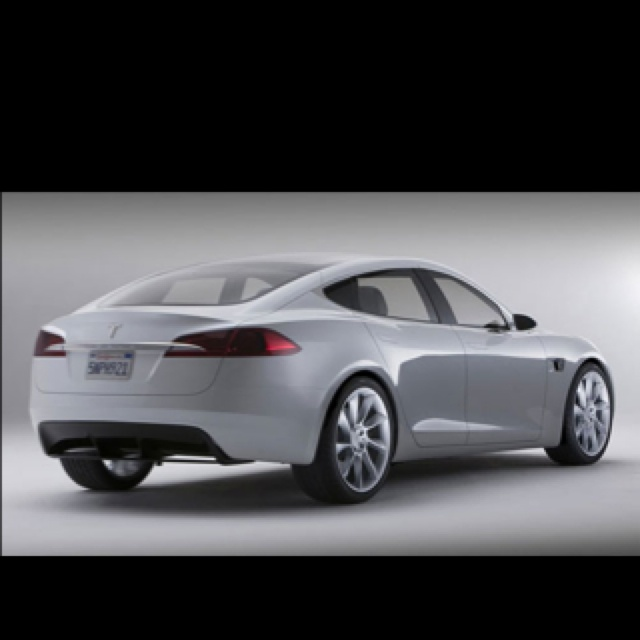 The Tesla Sedan. Seats 7 ( two rear facing) no engine-completely battery powered (the front is the trunk), 300 miles on one charge!