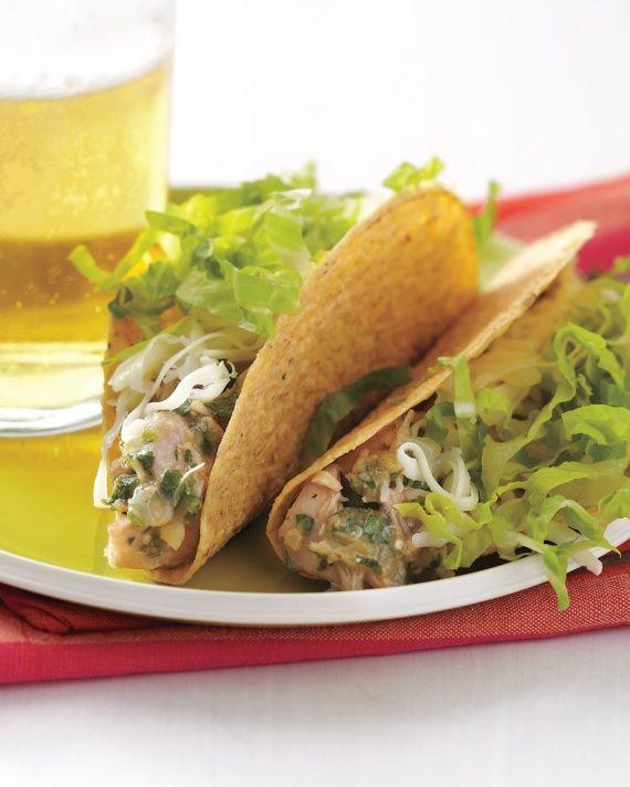 Tacos with Tangy Cilantro Chicken Recipe