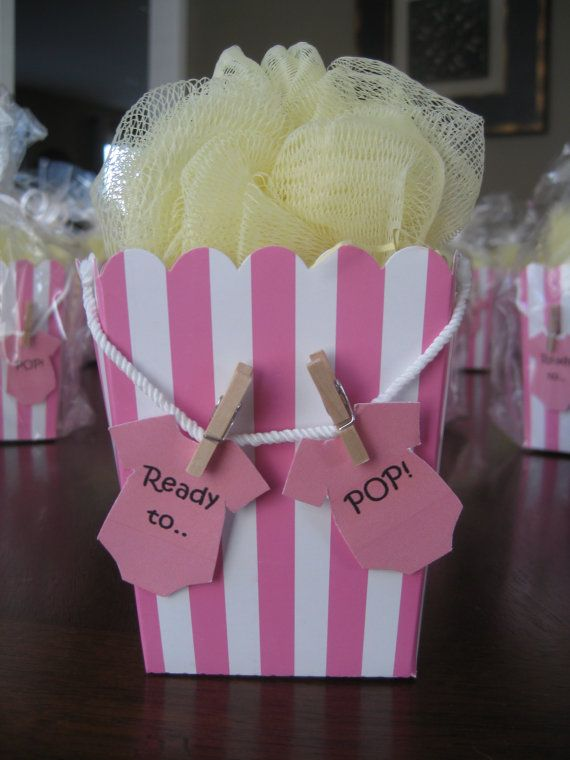 Ready to Pop Popcorn Box Baby Shower Favor by MySweetPartyPrincess, $2.50