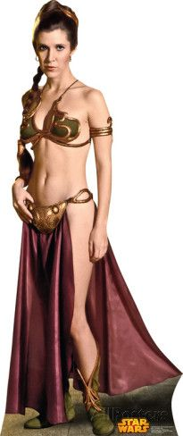Star Wars - Princess Leia Slave Girl Lifesize Standup Cardboard Cutouts at AllPosters.com