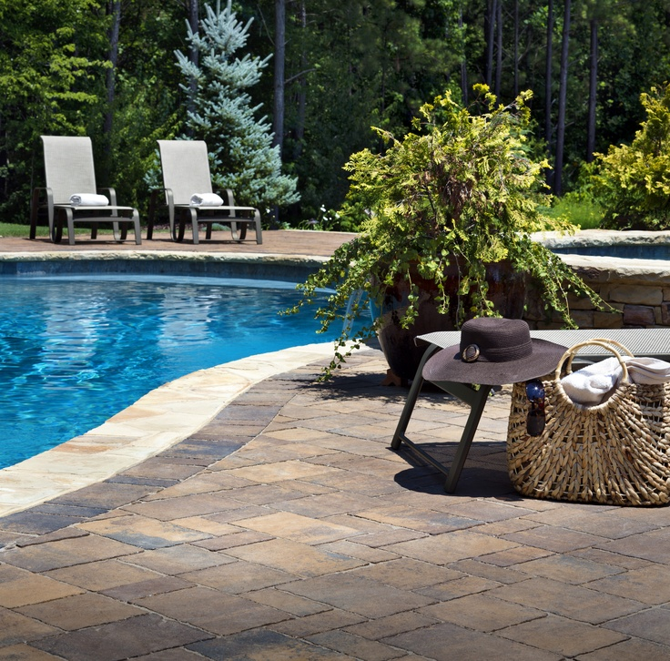 Awesome Pool Deck Paver Ideas
