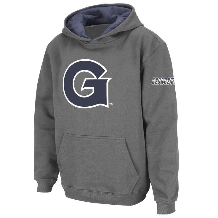 Georgetown Hoyas Stadium Athletic Youth Big Logo Pullover Hoodie - Charcoal - $19.99
