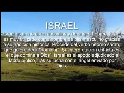 ISRAEL Significado y origen del nombre - YouTube
