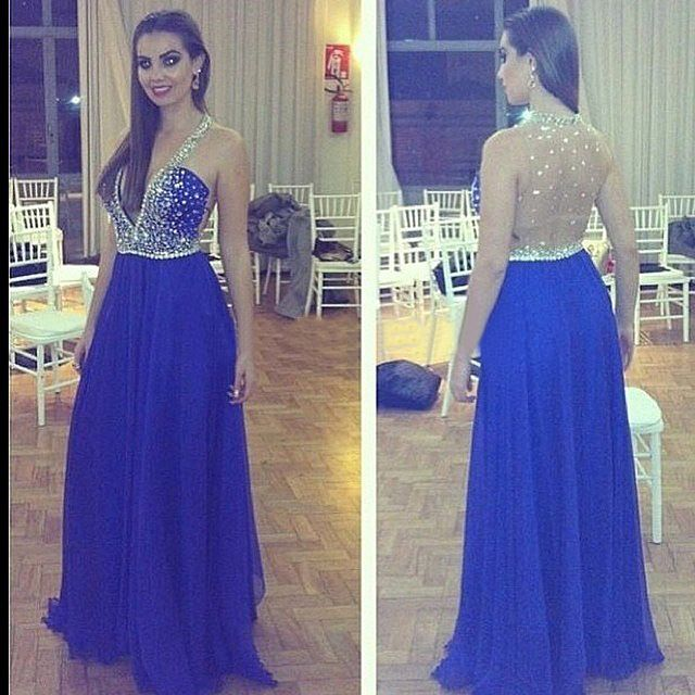 Fashion Prom Dress,See Though Evening Formal Gown,Sexy V